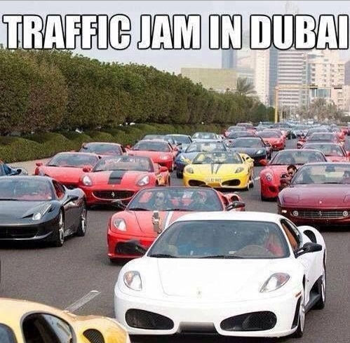 Dubai Traffic Jam